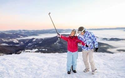Digitale Gadgets beim Skifahren