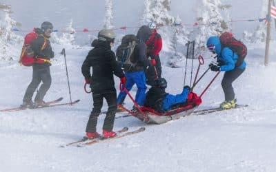 Skiunfall auf der Piste